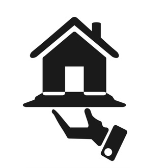 Icona casa servita su mano